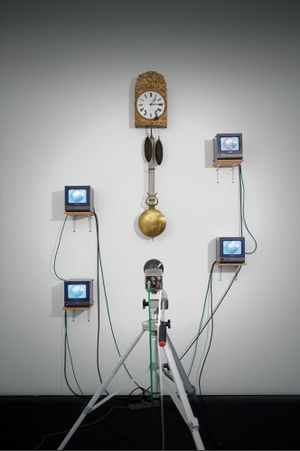 French Clock TV by Nam June Paik contemporary artwork sculpture, moving image