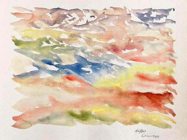 Jacques Calonne,Diffus, (1989). Watercolour on paper. 27 x 37 cm. Courtesy the artist.