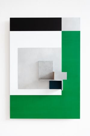 Painting for a White Roughcast Wall by Toby Paterson contemporary artwork painting