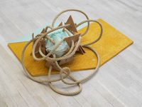 Petate, Petate, Turquesa, Icosahedron by Mariana Castillo Deball contemporary artwork sculpture