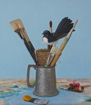 Willie Wagtail by Andrew Sullivan contemporary artwork