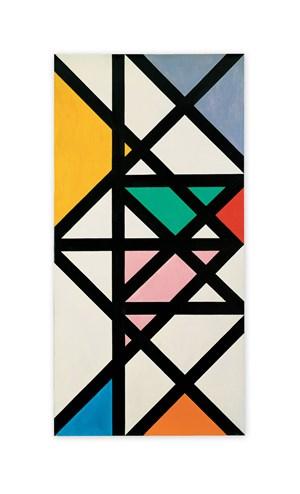 Horitzontal-Vertikal-Diagonal-Rhythmus (Horizontal-Vertical-Diagonal-Rhythm) by Max Bill contemporary artwork