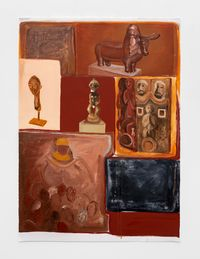 Ditso tsa Lefatshe le Lengwe (Cultures of the Otherworld) by Phoka Nyokong contemporary artwork painting, works on paper