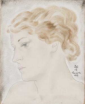 Young Woman in Profile by Léonard Tsuguharu Foujita contemporary artwork