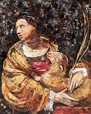 Repro (Saints): Saint Agnes, after Simon Vouet by Vik Muniz contemporary artwork