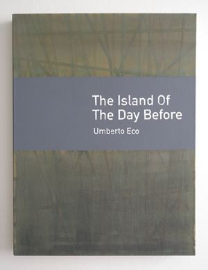 The Island of the Day Before / Umberto Eco by Heman Chong contemporary artwork