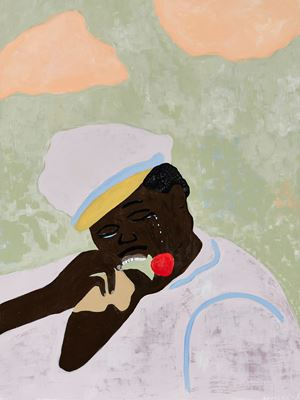 Armando from Zambezi province late to meet beloved, a tragedy by Cassi Namoda contemporary artwork