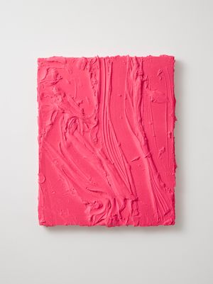 Untitled (Fluorescent flame red / Rosso laccato) by Jason Martin contemporary artwork