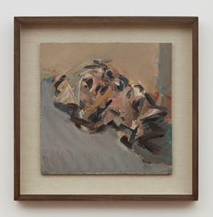 Reclining Head of Julia by Frank Auerbach contemporary artwork
