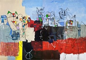 Downtown New York by George Condo contemporary artwork