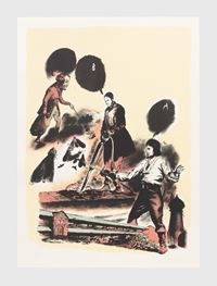 Der Hergang by Neo Rauch contemporary artwork print