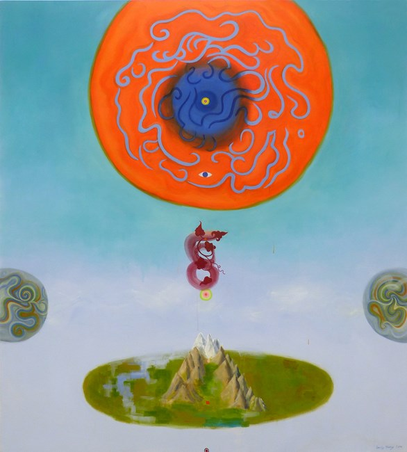 Crown over Mount Everest 《珠穆朗瑪峰上的皇冠》 by Emily Cheng contemporary artwork