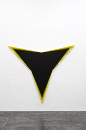Black Should Bleed to Edge (Yellow) by Philippe Decrauzat contemporary artwork