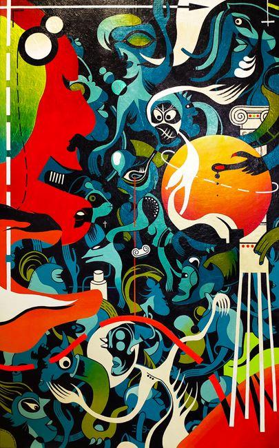 1980s Dream in Shinjuku by Nisky Yu contemporary artwork