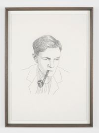 Kim Philby by Lucy McKenzie contemporary artwork drawing
