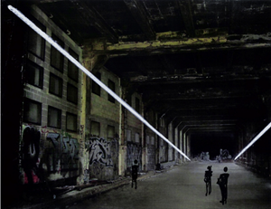 """Study for """"Crossing,"""" Highline Tunnel, New York, 2007 by Anthony McCall contemporary artwork"""