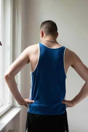 Olly, vest & hands by Wolfgang Tillmans contemporary artwork