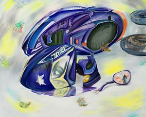 Heartbroken Motorbike #1 伤心摩托车#1 by Yan Xinyue contemporary artwork