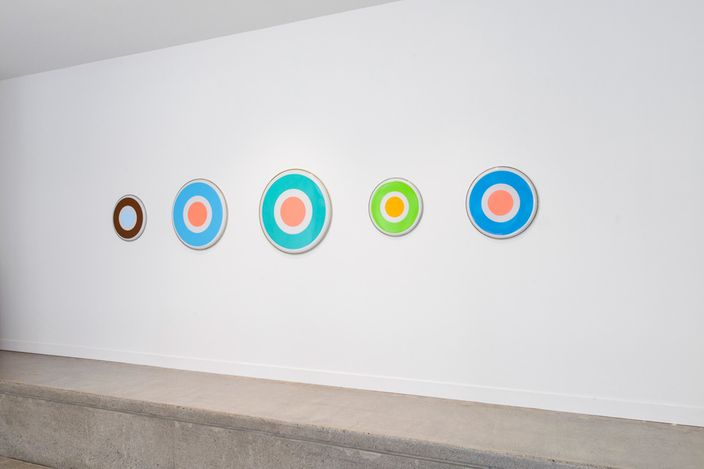 Exhibition view: Julian Dashper, Drumheads 25 Years, Hamish McKay Gallery (13 March–31 March 2021). Courtesy Hamish McKay Gallery.