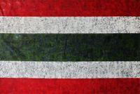 Untitled #2 (Siam Republic Flag) by Mit Jai Inn contemporary artwork painting