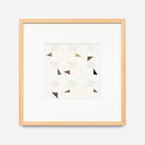 9 triangles, déc. 10 by Léon Wuidar contemporary artwork