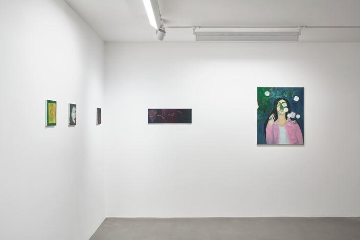 Exhibition view: Katja Seib, dear diary, Sadie Coles HQ, Davies Street, London (16 November–26 January 2019). Courtesy Sadie Coles HQ, London. Photo: Robert Glowacki.