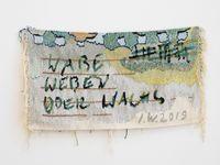 Wabe Weben oder Wachs by Ingrid Wiener contemporary artwork sculpture, textile
