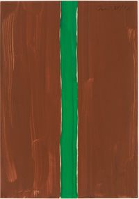 Untitled (brown-green) by Günther Förg contemporary artwork works on paper
