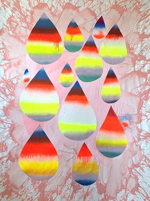 Rainbow Drops by Daniel González contemporary artwork