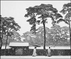JAPAN. Tokyo. Courtyard of the Meiji shrine. by Werner Bischof contemporary artwork
