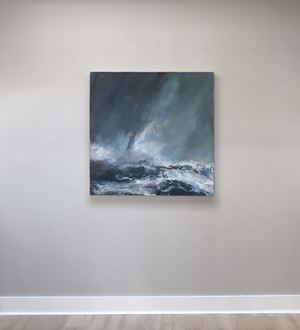 Sea state force 8 - High waves and spindrift by Janette Kerr contemporary artwork