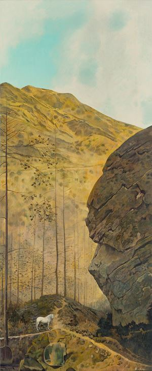 Travelling in Autumn Mountains 秋山行旅圖 by Wei Dong contemporary artwork