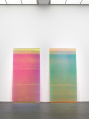 Bright Pink & Yellow by Ann Veronica Janssens contemporary artwork