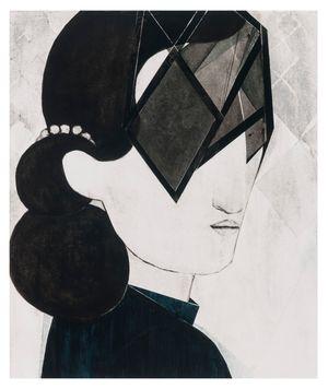 Head/mask (small) by Iris Schomaker contemporary artwork