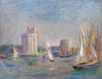 La Rochelle by Pierre-Auguste Renoir contemporary artwork painting, works on paper