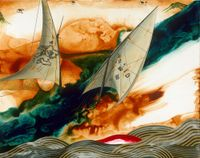 The Crevice in a Wave by Chou Tai Chun contemporary artwork painting