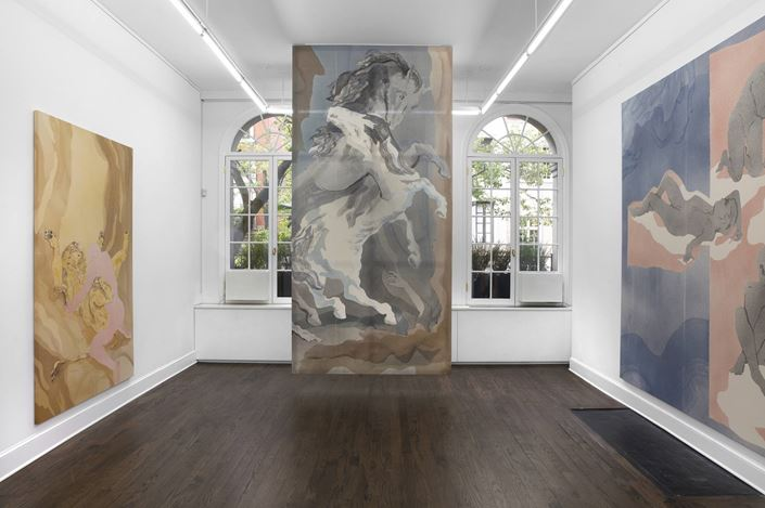 Exhibition view:Matthew Lutz-Kinoy, Hudson Bathers,Mendes Wood DM, New York (30 April–15 May 2019). Courtesy Mendes Wood DM.