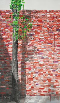 Study of Green-Seoul-Vacant Lot-Seodaemun (Gate) by Honggoo Kang contemporary artwork painting