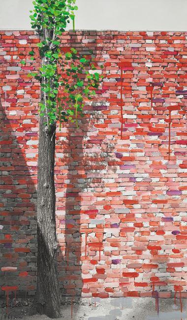 Study of Green-Seoul-Vacant Lot-Seodaemun (Gate) by Honggoo Kang contemporary artwork