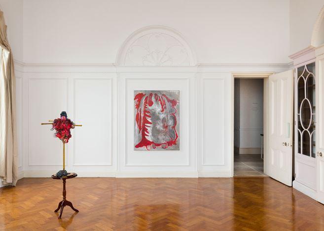 Exhibition view: Michaela Eichwald,Kartoffelschälgruppe Fragmentkörper, Maureen Paley, Morena di Luna, Hove (23 March–19 May 2019). © Michaela Eichwald. Courtesy Maureen Paley, London.
