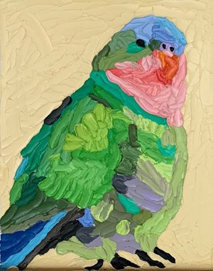 Princess parrot by Troy Emery contemporary artwork