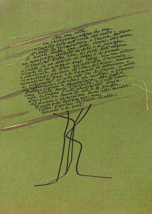 La Leggenda del Naufrago by Maria Lai contemporary artwork