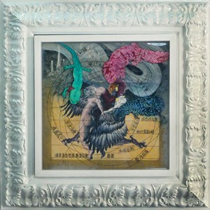 The Bird People - G6 by Gong Xu contemporary artwork mixed media