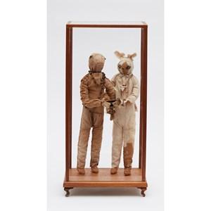 Owl & Bunny by Linde Ivimey contemporary artwork