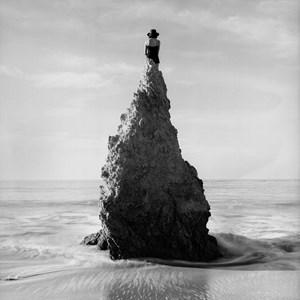Caroline on Pointed Rock, near Los Angeles, California by Rodney Smith contemporary artwork