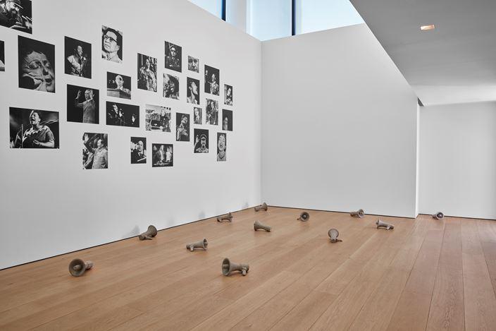 Exhibition view: Kader Attia, Mirrors of Emotion, Lehmann Maupin, W 24th Street, New York (10 September–26 October 2019). Courtesy the artist and Lehmann Maupin, New York, Hong Kong, and Seoul.Photo: Matthew Herrmann.