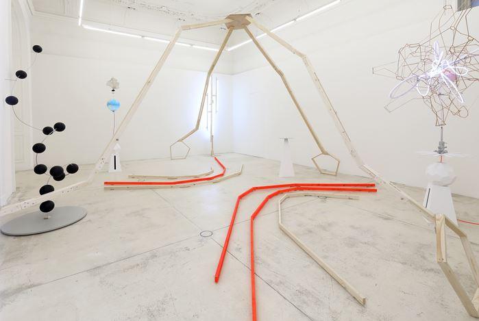 Exhibition view:Björn Dahlem, Der Wahrheitsraum (Paulus Somni) – The Truth Room (Paulus Somni), Galerie Krinzinger, Vienna (3 September–17 October 2020). Courtesy Galerie Krinzinger.