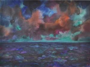 """""""Abend am Meer"""" by Herbert Beck contemporary artwork"""