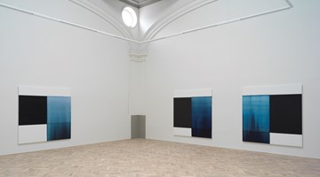 Contemporary art exhibition, Callum Innes, Byzantine Blue, Delft Blue, Paris Blue at Ingleby Gallery, Edinburgh