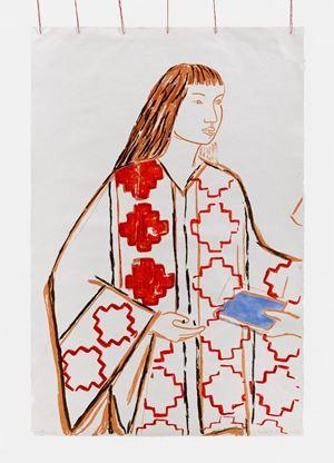 Niña Mapuche by Cecilia Vicuña contemporary artwork